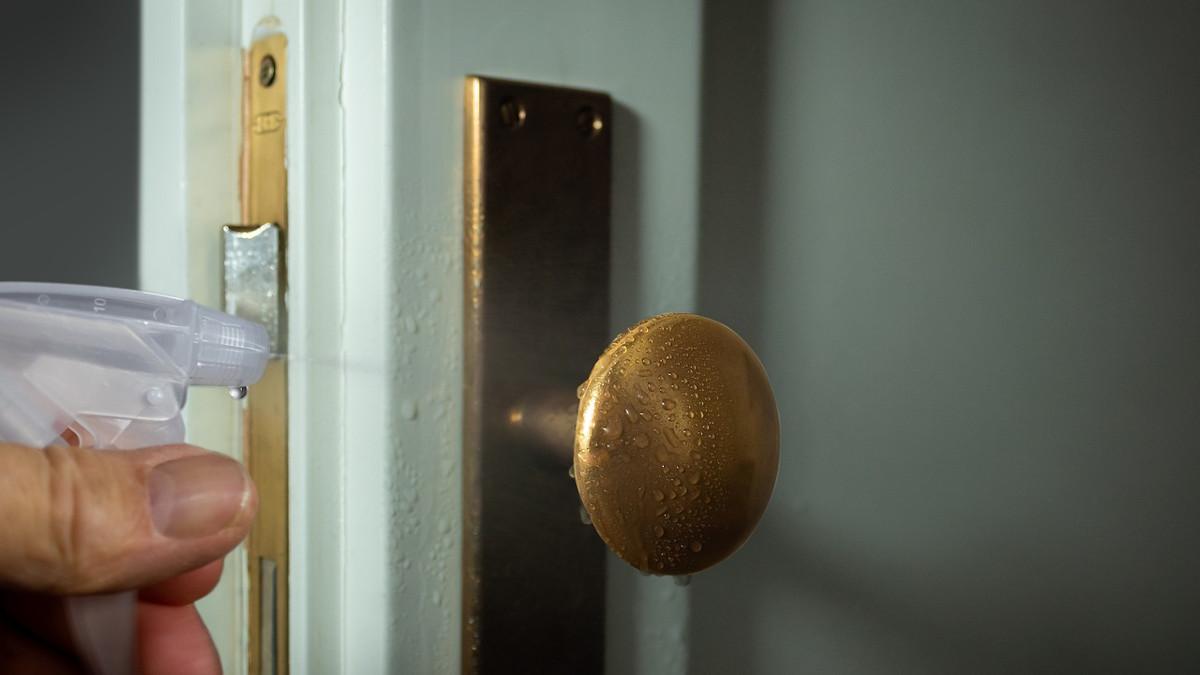 desinfectar puertas de madera